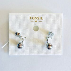 Fossil Stainless Steel Ball Ear Jackets